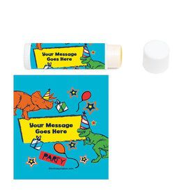 Dinosaur Fun Personalized Lip Balm (12 Pack)
