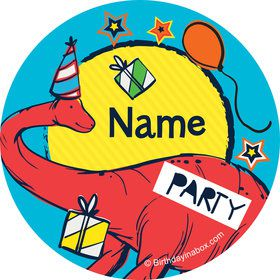 Dinosaur Fun Personalized Mini Stickers (Sheet of 24)