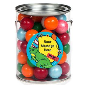 Dinosaur Fun Personalized Paint Cans (6 Pack)