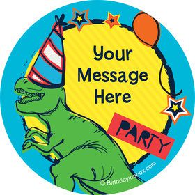 Dinosaur Fun Personalized Stickers (Sheet of 12)