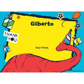 Dinosaur Fun Personalized Thank You (Each)