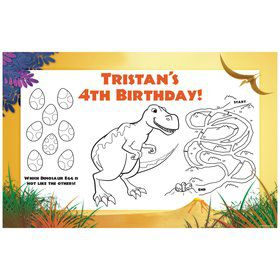 Dinosaur Party Personalized Activity Mat (8 pack)