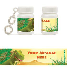 Dinosaur Party Personalized Bubbles (18 Pack)