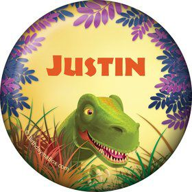 Dinosaur Party Personalized Button (each)