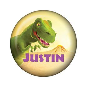 Dinosaur Party Personalized Mini Button (each)