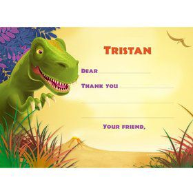 Dinosaur Party Personalized Thank You Note (each)