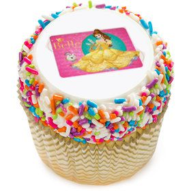 "Disney Belle 2"" Edible Cupcake Topper (12 Images)"
