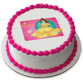 "Disney Belle 7.5"" Round Edible Cake Topper (Each)"