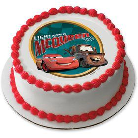"Disney Cars 7.5"" Round Edible Cake Topper (Each)"
