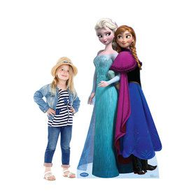 Disney Frozen Elsa and Anna Standup - 6' Tall