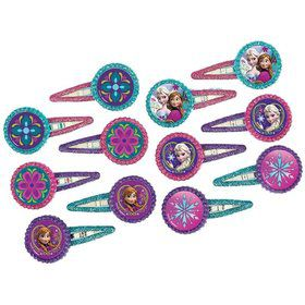 Disney Frozen Hair Clip Favors (12 Pack)