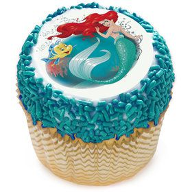 "Disney Little Mermaid 2"" Edible Cupcake Topper (12 Images)"