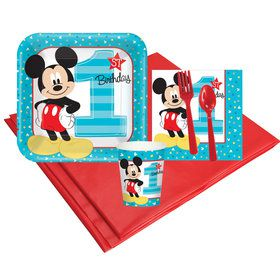 Disney Mickey Mouse 1st Birthday 8 Guest Party Pack