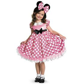 Disney Mickey Mouse Clubhouse Pink Minnie Mouse Glow in the Dark Child Costume