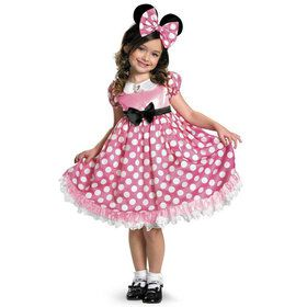Disney Mickey Mouse Clubhouse Pink Minnie Mouse Glow in the Dark Toddler Costume