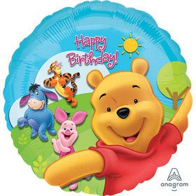 Disney Pooh Birthday Mylar Balloon (1)