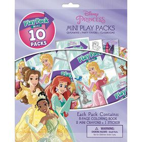 Disney Princess Mini Play Pack Set (10)