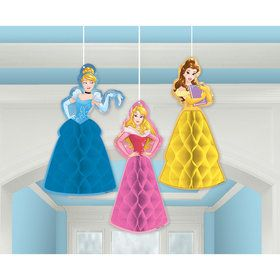 Disney Princess Honeycomb Decorations (3 Count)