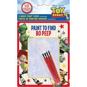 Disney's Toy Story 4 Magic Watercolor Paint Favor Card w/ Brush (4)