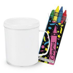 DIY Decorate a Mug and Crayons Kit (4 Count)