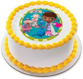 "Doc McStuffins 7.5"" Round Edible Cake Topper (Each)"
