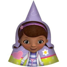 Doc McStuffins Paper Cone 6  Hats (8 ...  sc 1 st  Birthday Express & Doc McStuffins Party Supplies- Kids Party Supplies u0026 Party Ideas ...