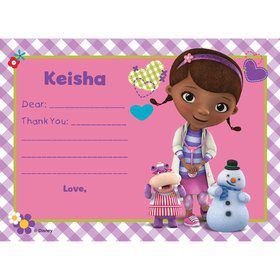 Doc McStuffins Personalized Thank You (Each)