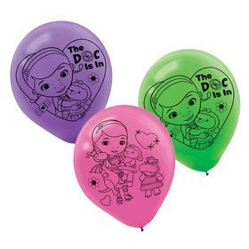 "Doc McStuffins Printed 12"" Latex Balloons (6 Pack)"