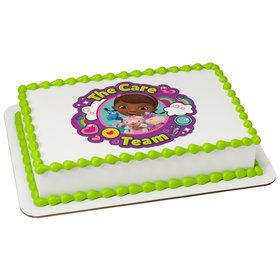 Doc McStuffins Team Care Quarter Sheet Edible Cake Topper (Each)