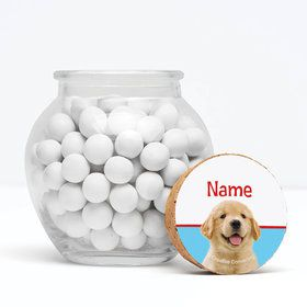 "Dog Party Personalized 3"" Glass Sphere Jars (Set of 12)"