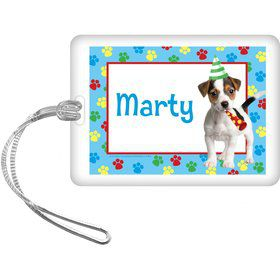 Dog Party Personalized Bag Tag (each)