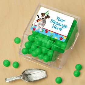 Dog Party Personalized Candy Bin with Candy Scoop (10 Count) Sh