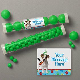 Dog Party Personalized Candy Tubes (12 Count) Sh