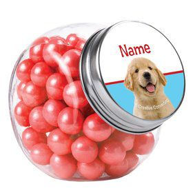 Dog Party Personalized Plain Glass Jars (12 Count)