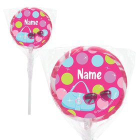 "Doll Party Personalized 2"" Lollipops (20 Pack)"