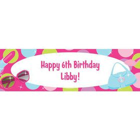 Doll Party Personalized Banner (each)