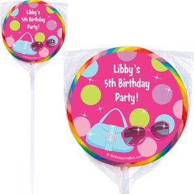 Doll Party Personalized Lollipop (PACK OF 12)
