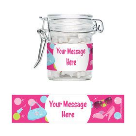 Doll Party Personalized Swing Top Apothecary Jars (12 ct)