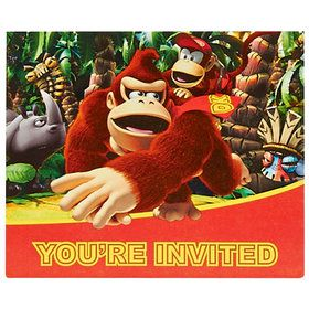Donkey Kong Invitations