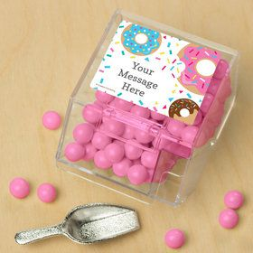 Donut Personalized Candy Bin with Candy Scoop (10 Count)