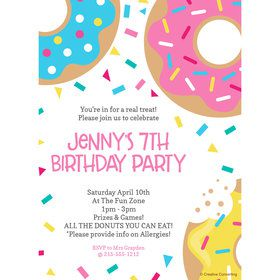 Donut Personalized Invitation (Each)