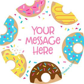Donut Personalized Stickers (Sheet of 12)