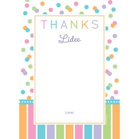 Dots and Stripes Baby Shower Personalized Thank You (Each)