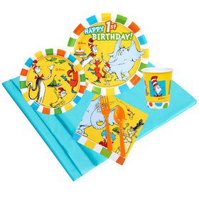 Dr Seuss 1st Birthday 16 Guest Party Pack