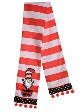 Dr. Seuss Cat in the Hat Scarf