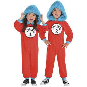 Dr. Seuss Child Thing 1 & 2 Jumpsuit Costume