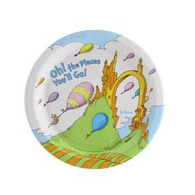 Dr. Seuss Oh The Places You'll Go Dessert Plate (8)
