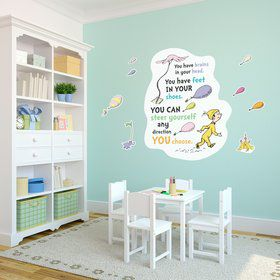 Dr. Seuss Oh the Places Youll Go Inspirational Quote Giant Wall Decal