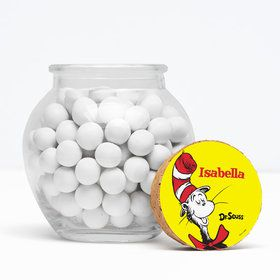 """Dr. Seuss Personalized 3"""" Glass Sphere Jars (Set of 12)"""