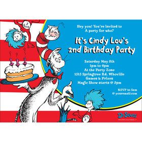 Dr. Seuss Personalized Invitation (Each)